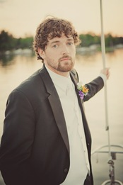 Portrait of Groom on a boat in Annapolis MD