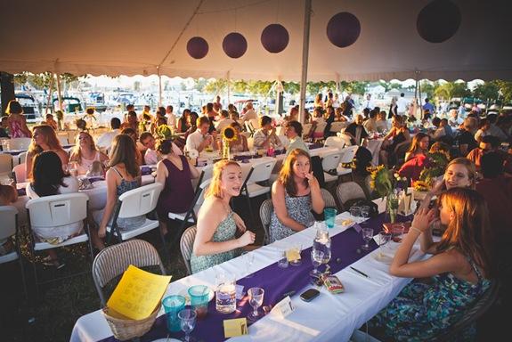 Guests at wedding reception at Bay Ridge Club in Annapolis MD