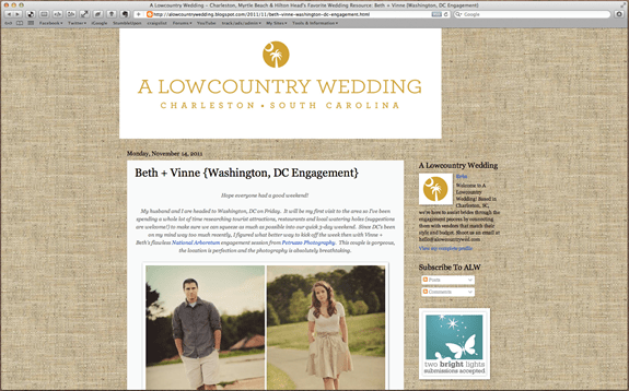Petruzzo Photography Featured on A Lowcountry Wedding