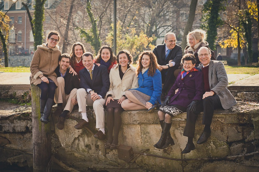 """Portraits of a """"Von Trapp"""" Family in Old Town Alexandria"""