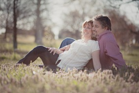 Cute couple at Patterson Park in Baltimore MD