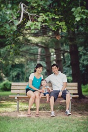 Famiily with toddler at Wheaton Regional Park in Maryland