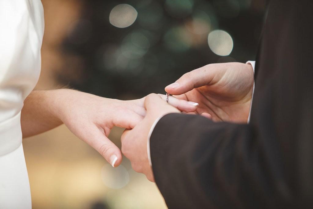 Ring exchange wedding photography