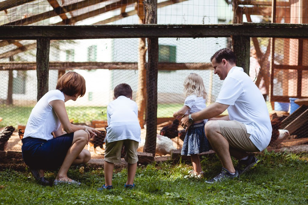 family-with-chickens-agricultural-history-farm-park