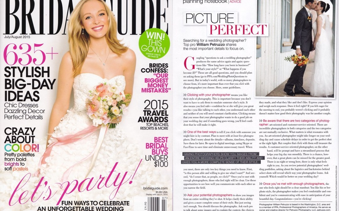 Find us in this month's issue of the Bridal Guide!