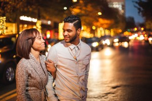 engaged-couple-downtown-silver-spring