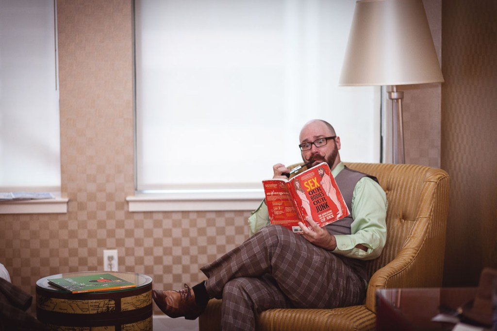 reading-a-book-before-wedding-funny