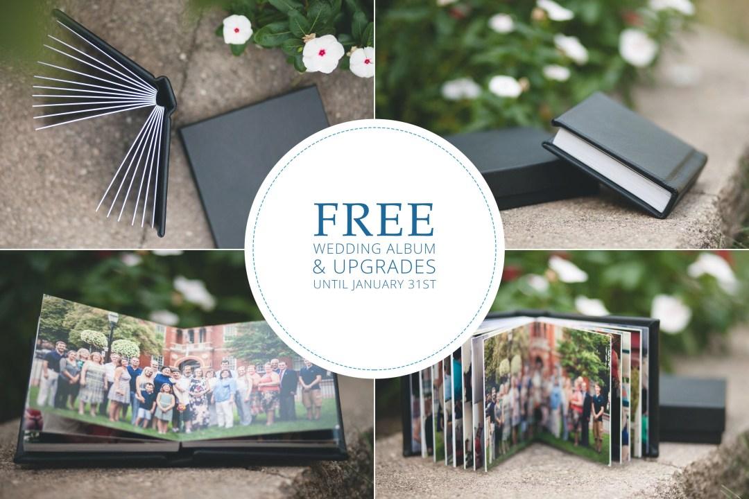 Free Wedding Album & Upgrades Until January 31st!