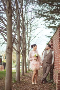 The bride and groom near the water in Annapolis