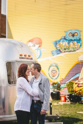 Coffee and murals engagement session in Annapolis petruzzo photography 09
