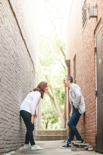Coffee and murals engagement session in Annapolis petruzzo photography 13