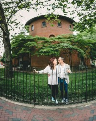 Coffee and murals engagement session in Annapolis petruzzo photography 24