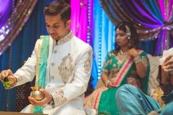 Pooja Ritual Engagement Ceremony from Felipe Sanchez with Petruzzo Photography 12