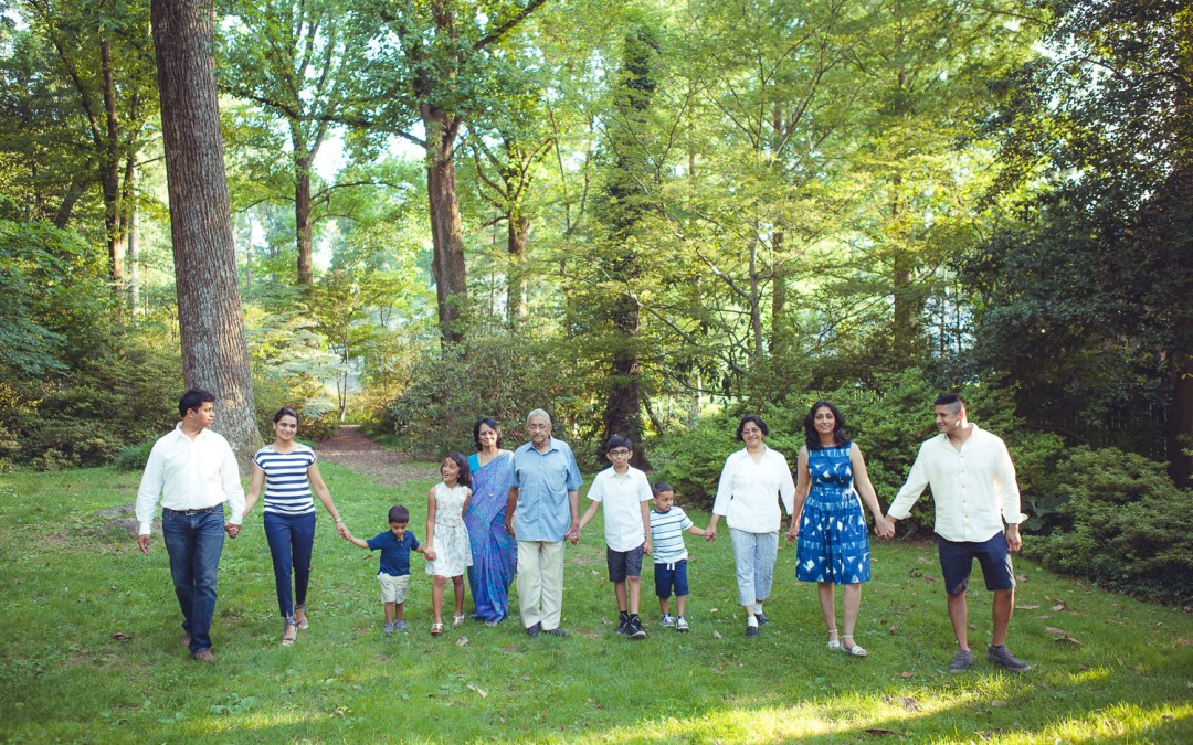 Family Reunion Portraits in the Gardens of Bethesda, MD