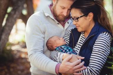 A Newborn Family Forest Portrait 03