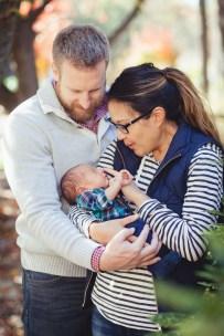 A Newborn Family Forest Portrait 04