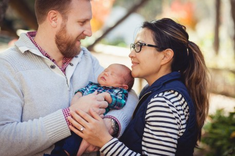 A Newborn Family Forest Portrait 05