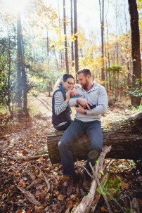 A Newborn Family Forest Portrait 12