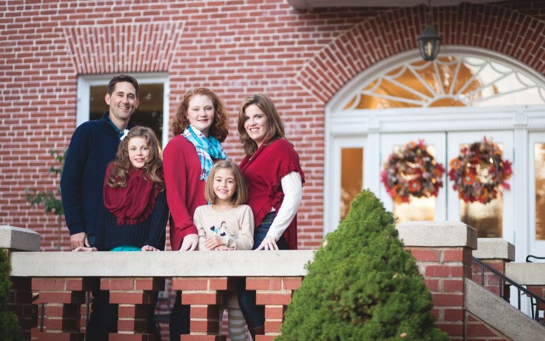 A Family Portrait Session in the Front Yard