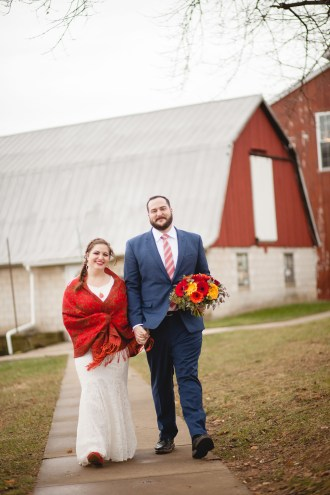 Bright Wedding On a Dreary Day at Linganor Wines 48