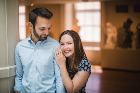 An Engagement Session Through the Halls of the National Portraits Gallery 07