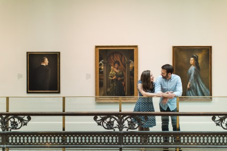 An Engagement Session Through the Halls of the National Portraits Gallery 15