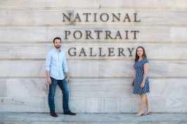 An Engagement Session Through the Halls of the National Portraits Gallery 24