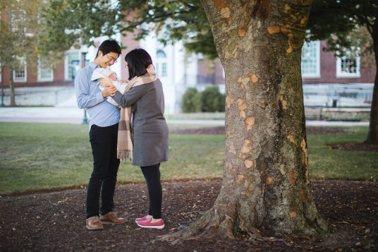 Meeting the Newborn on the Johns Hopkins Campus in Baltimore 16