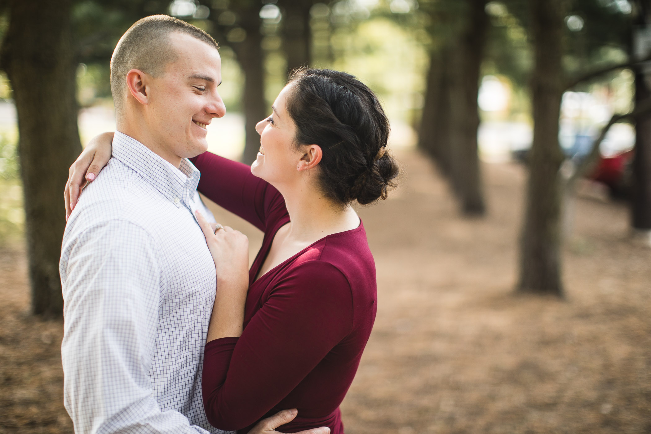 This Couple's Engagement Session in White & Maroon 01