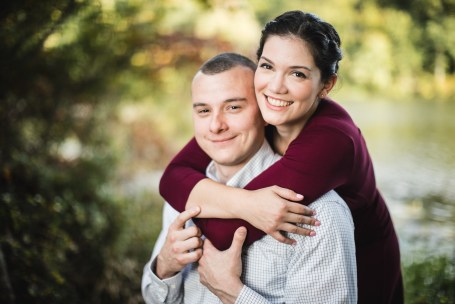 This Couple's Engagement Session in White & Maroon 11
