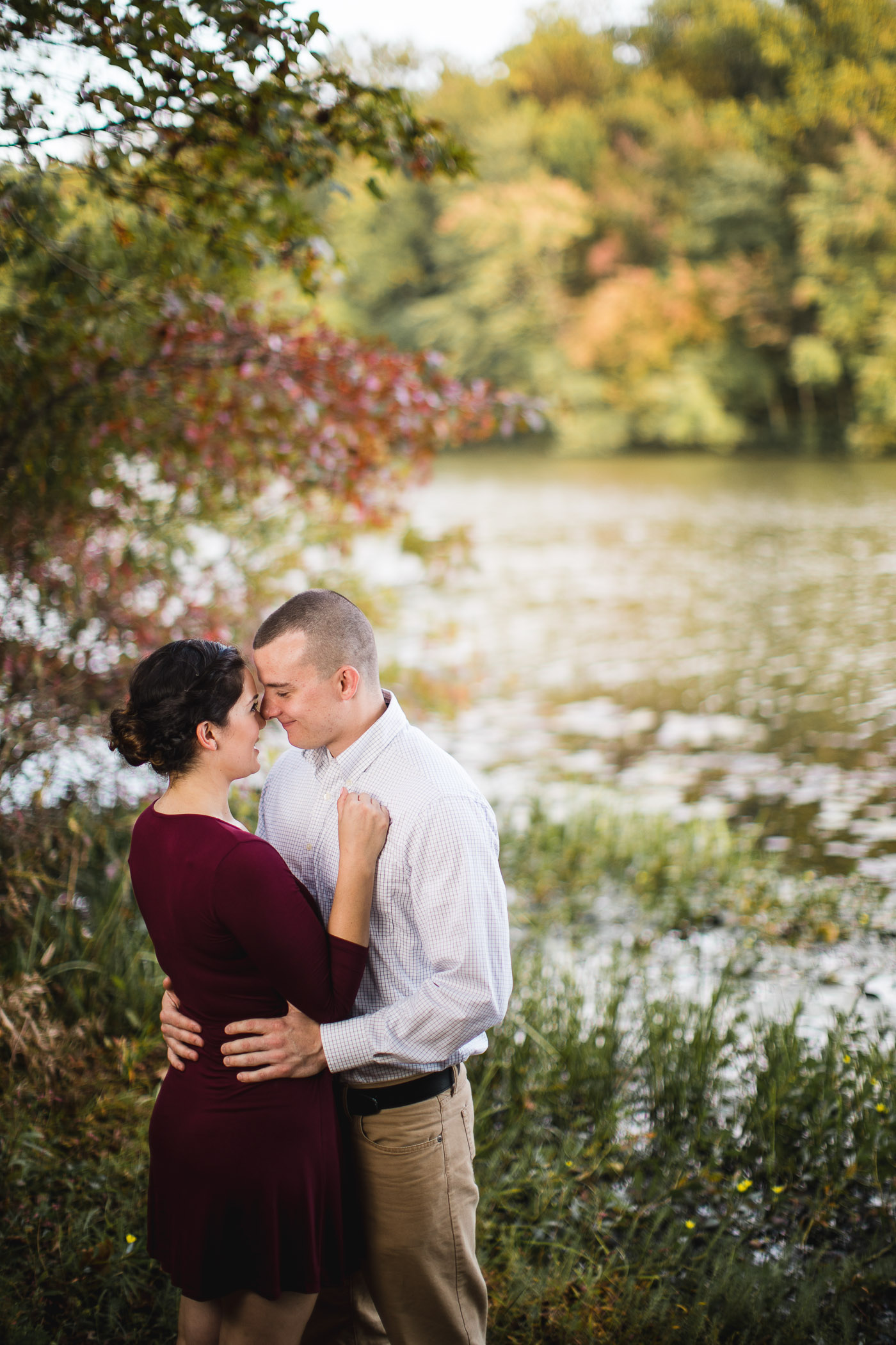 This Couple's Engagement Session in White & Maroon 12