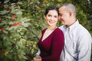 This Couple's Engagement Session in White & Maroon 13