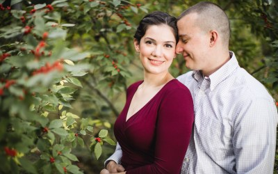 This Couple's Engagement Session in White & Maroon