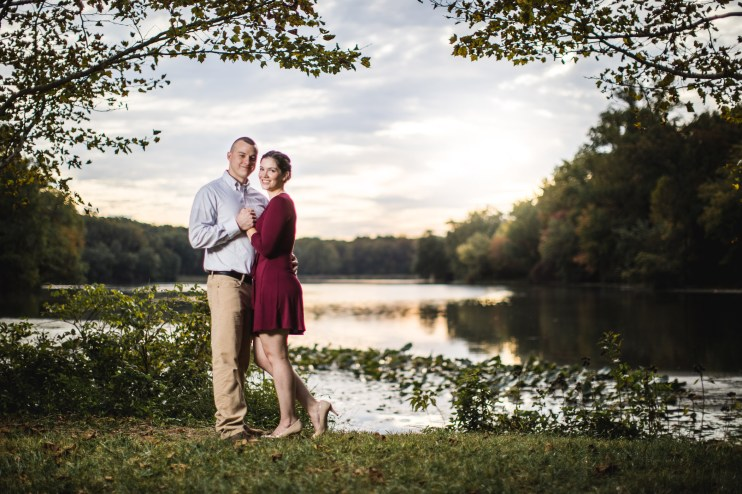 This Couple's Engagement Session in White & Maroon 19