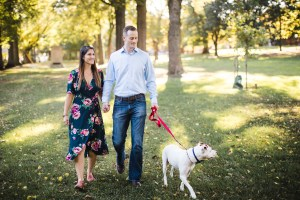 Hand & Hand & Paw Engagement Session on the Streets of Annapolis 01