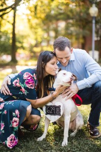 Hand & Hand & Paw Engagement Session on the Streets of Annapolis 07