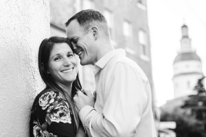 Hand & Hand & Paw Engagement Session on the Streets of Annapolis 17