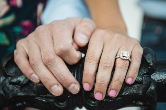 Hand & Hand & Paw Engagement Session on the Streets of Annapolis 21