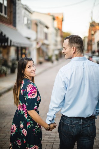 Hand & Hand & Paw Engagement Session on the Streets of Annapolis 23
