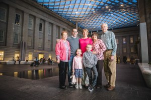 A Family Portrait at The National Portrait Gallery & The Supreme Court Grounds 10