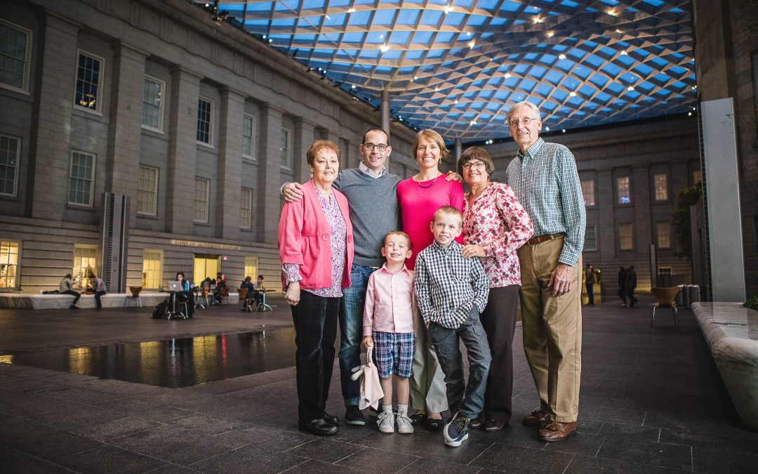 A Family at The National Portrait Gallery & The Supreme Court Grounds