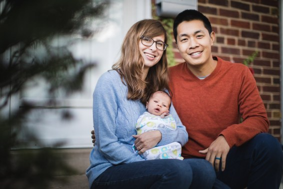 A Portrait Session with a Newborn Family 22