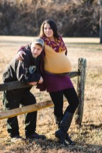 A Mixed Light Maternity Portrait Session at Every-Park USA 05