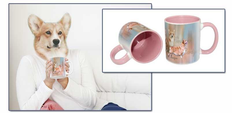 un mug personnalisé avec un chien