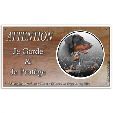 plaque de garde attention au chien lois et d crets bobby blog. Black Bedroom Furniture Sets. Home Design Ideas