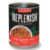 Replenish Beef, Vegetables & Brown Rice in Gravy Can Dog Food
