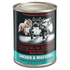 Maximum Bully Chicken and Mackerel Can Dog Food