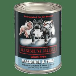 Maximum Bully Mackerel and Tuna Can Dog Food