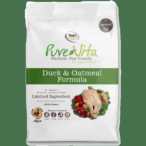 NutriSource Pure Vita Dog Duck Oatmeal 25lb.