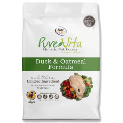 NutriSource Pure Vita Dog Duck Oatmeal 25lb.